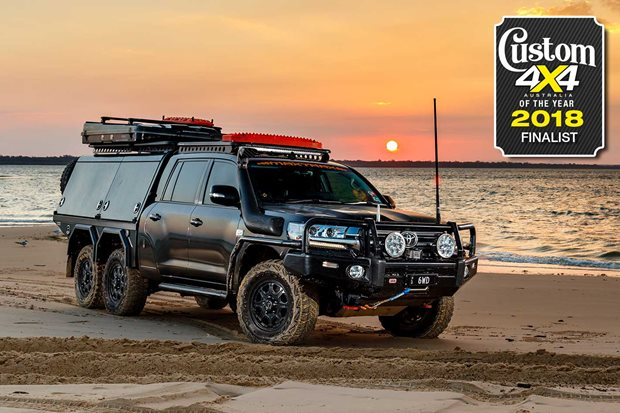 2018 Custom 4x4 of the Year finalist 6x6 Toyota LandCruiser 200 Series