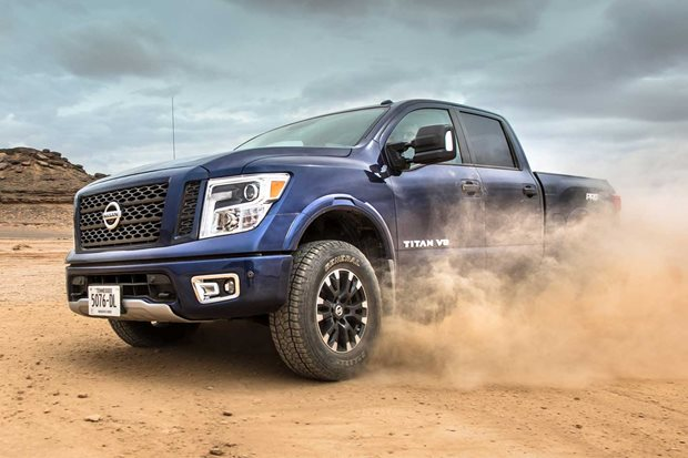 Right-hand drive Nissan Titan on the table again