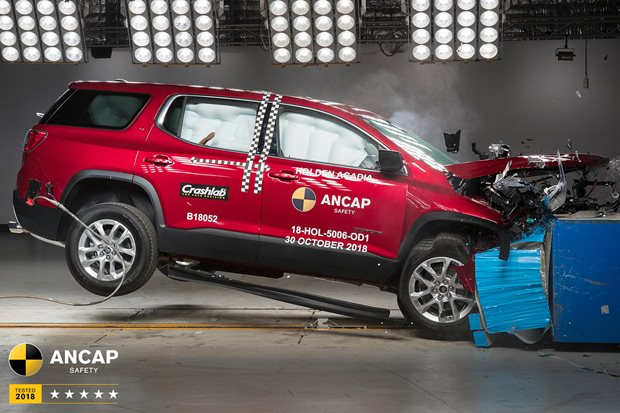 Video: Holden Acadia, BMW X5 score ANCAP five stars