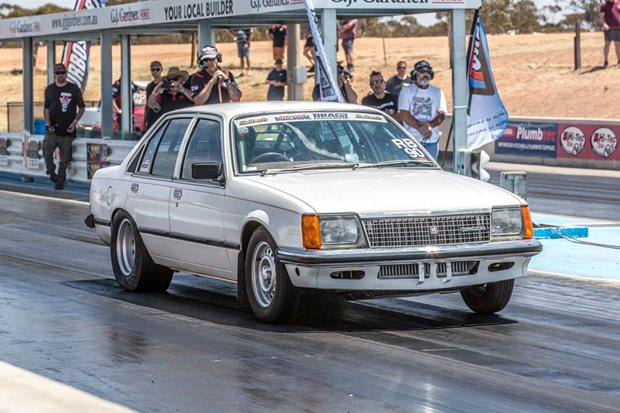 Turbo LS-powered VC Commodore at Drag Challenge 2018