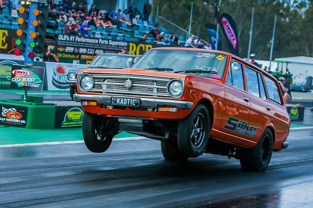 Eight-second Datsun 1200 wagon prepares for Drag Challenge Weekend