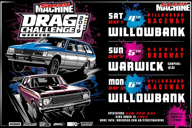 Drag Challenge Weekend 2019 Entry list