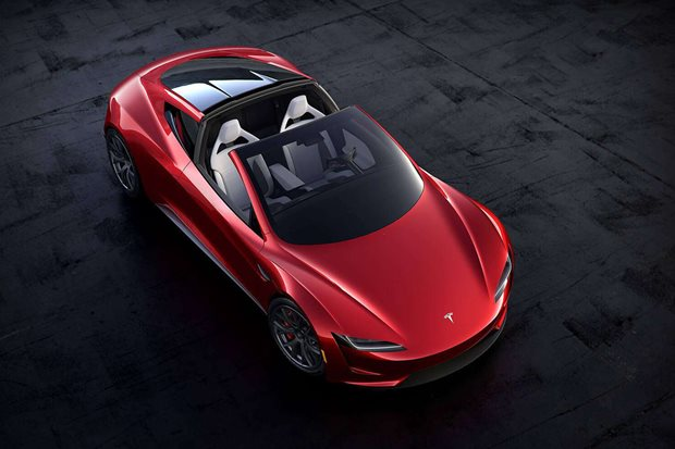Where is the Tesla Roadster?