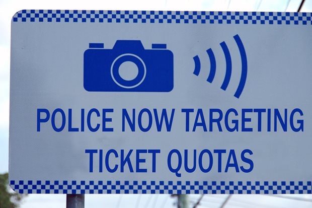 Police don't use quotas? Yeah, right.