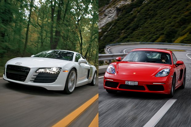 Buy the new Porsche Cayman S or get a used Audi R8 V8
