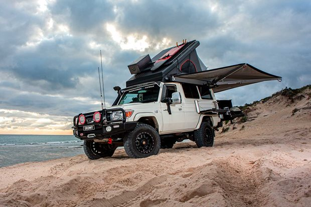 Custom Toyota LandCruiser Troop Carrier Coastal Camper review