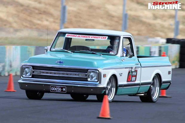 600hp Chevy C10 pick-up at the Optima Search For The Ultimate Street...