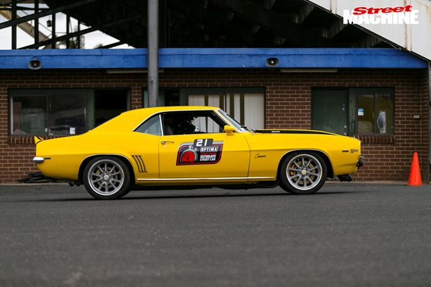LS1 powered 1969 Chevrolet Camaro at the Optima Ultimate Street Car...
