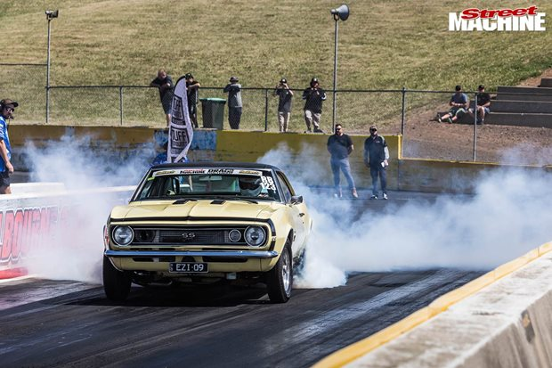 Ben Taylor's LS2-powered 1967 Chev Camaro SS396 at Drag Challenge 2019