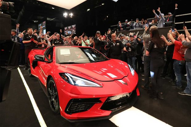 First Chevrolet C8 Corvette Stingray auction