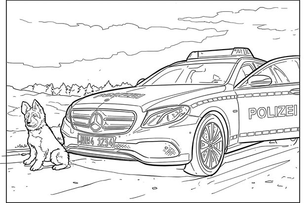 Downloadable car colouring-in pics for your little Picassos