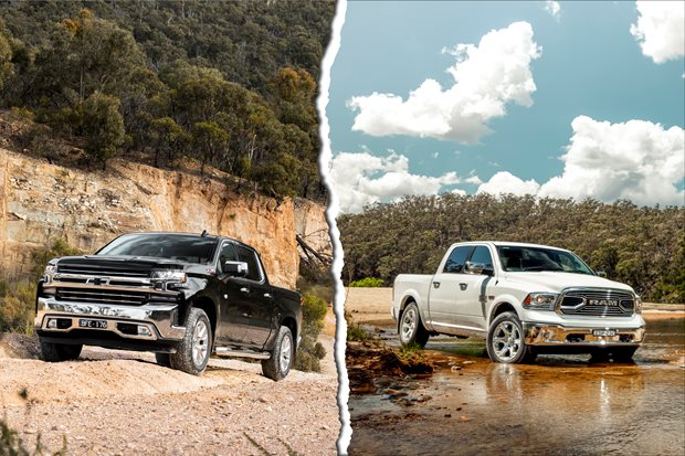 RAM 1500 and Chevrolet Silverado 1500 specs compared