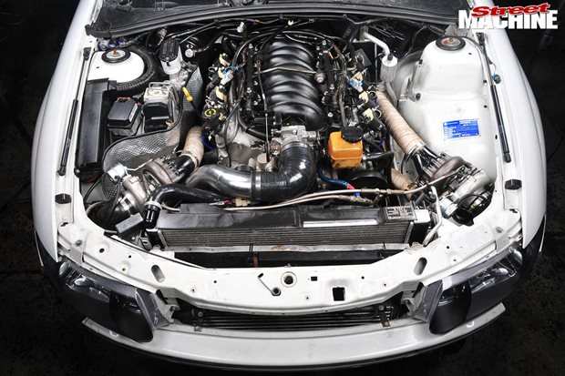 Correcting a badly installed twin-turbo LS1 fit-up to a Holden VX Commodore
