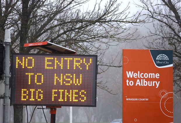 COVID-19: NSW/Victoria border closed