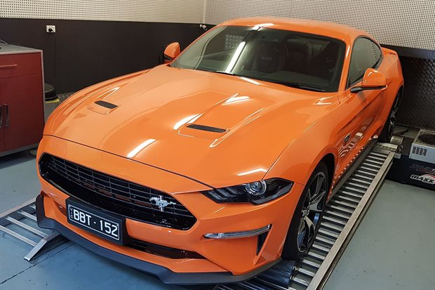 2020 four-cylinder 2.3L High Performance Mustang on the dyno – Video