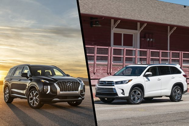 2021 Hyundai Palisade vs Toyota Kluger virtual comparison