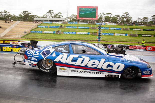Pro Mod driver wins Summernats Slam with snapped Achilles tendon