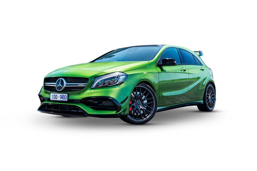 2017 mercedes benz a45 amg 2 0l 4cyl petrol turbocharged automatic hatchback. Black Bedroom Furniture Sets. Home Design Ideas
