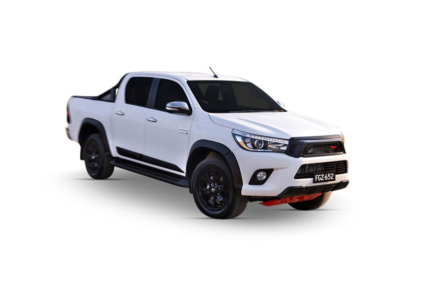 2017 toyota hilux trd white 4x4 2 8l 4cyl diesel turbocharged manual ute. Black Bedroom Furniture Sets. Home Design Ideas