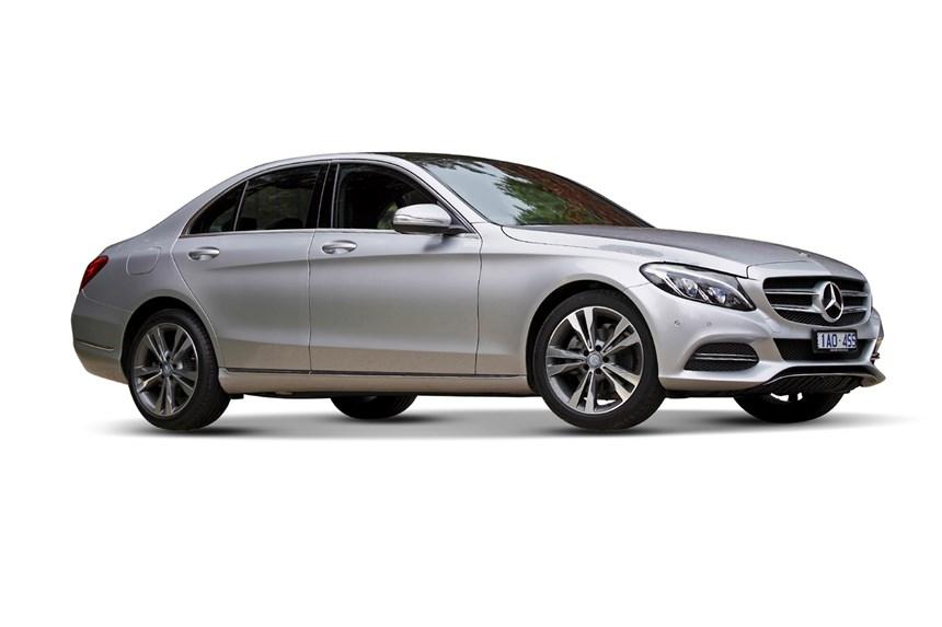 Mercedes Silver Sports Sedan