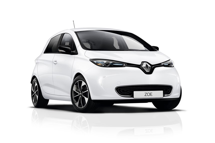 Image result for 2018 White Renault Zoe