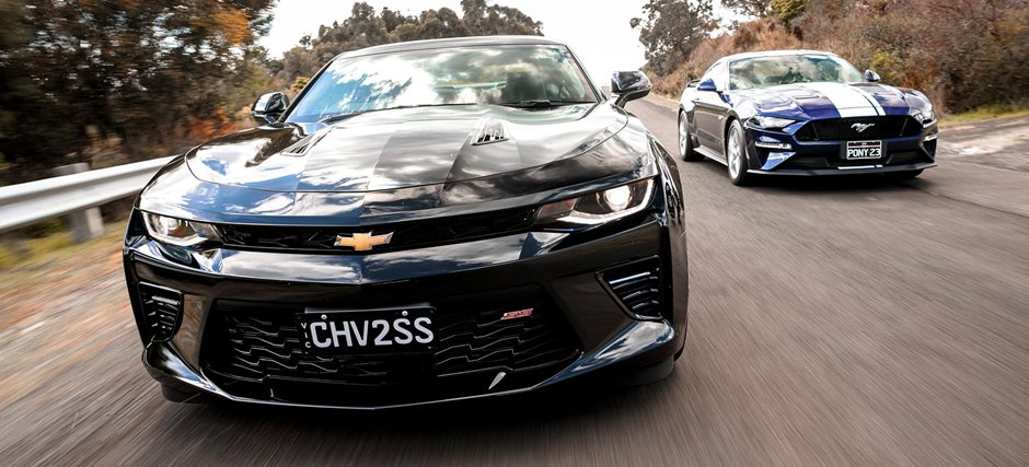 2018 Ford Mustang GT v Chevrolet Camaro SS comparison review