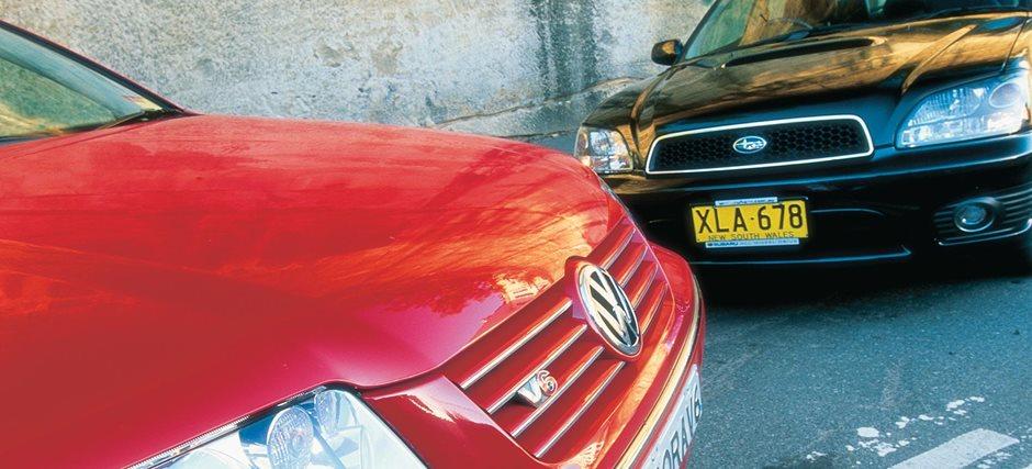 Subaru Liberty v Falcon G6E v Holden Calais v Mazda 6 v