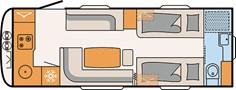 FLOORPLAN: DETHLEFFS BEDUIN SCANDINAVIA 670BET