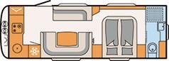 FLOORPLAN: DETHLEFFS BEDUIN SCANDINAVIA 690BQT
