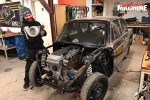 Barra-swapped BMW 2002 in Sweden