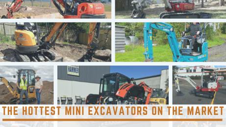 The hottest mini excavators on the market
