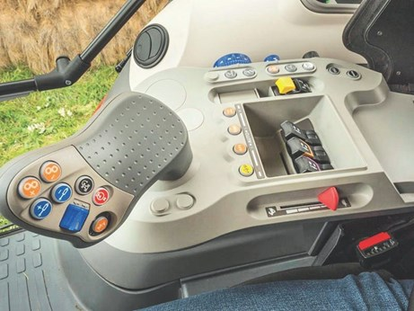 The McCormick X7 interior and control arm