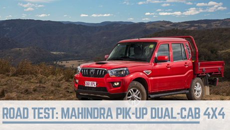 Mahindra Pik Up test
