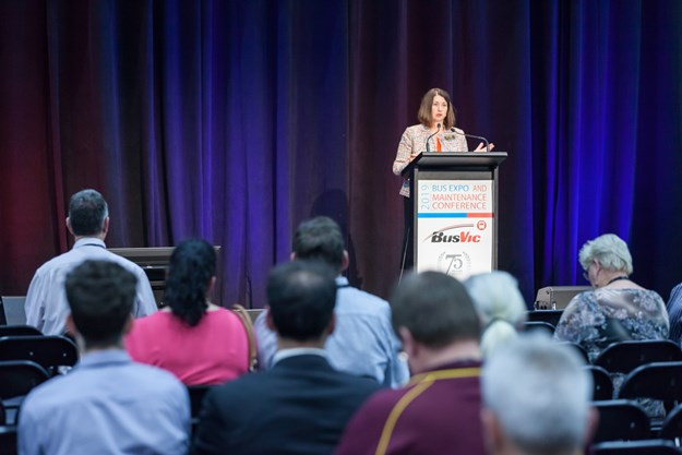 Lisa Faldon speaking at the 2019 BusVic Expo.jpg