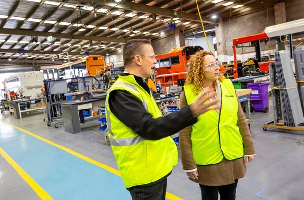 Jim Jones Commercial Manager Volgren and Public Transport Minister Melissa Horne.jpg
