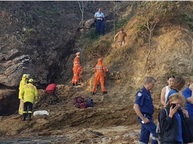 Paul Burg performing a rescue operation.jpg