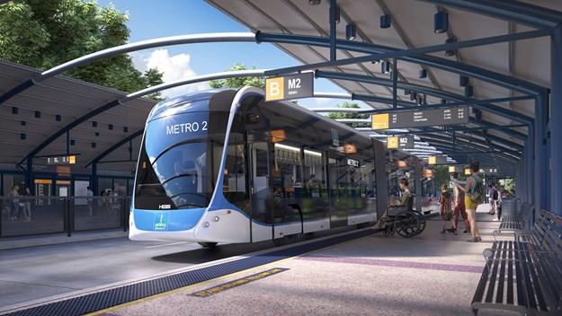 New Brisbane Metro at Herston station.jpg