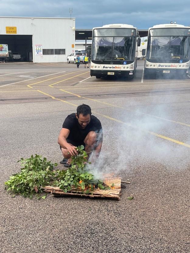 Smoking Ceremony Buslink NT in Darwin 2.JPG