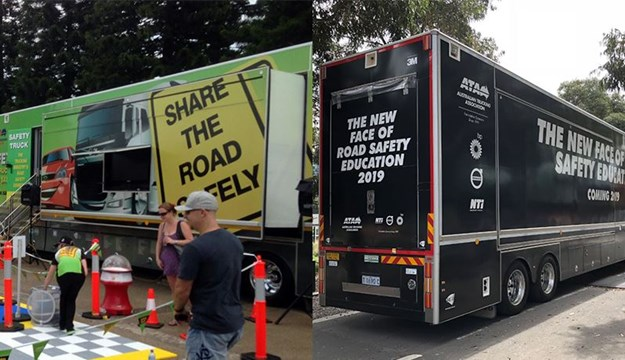 The Safety Truck before and after