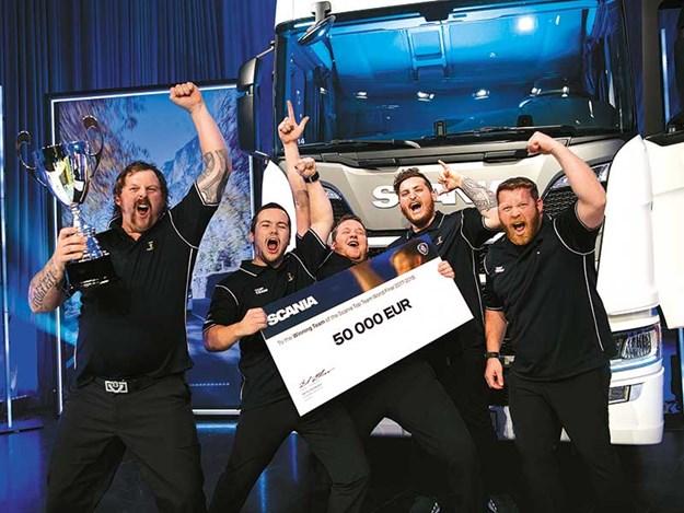 CablePrice Whangarei technicians wins Scania Top Team