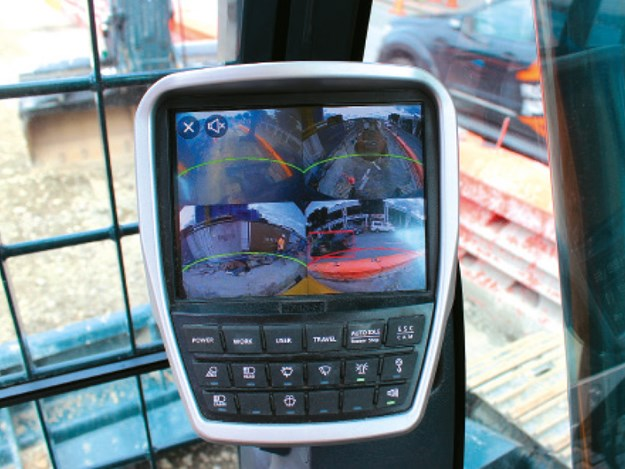 New in-cab display system features a bright, clear eight-inch screen