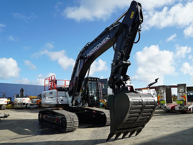 All Hicks Bay Drainage machines carry personalisation and operator Will has called the new excavator 'River' in honour of his daughter