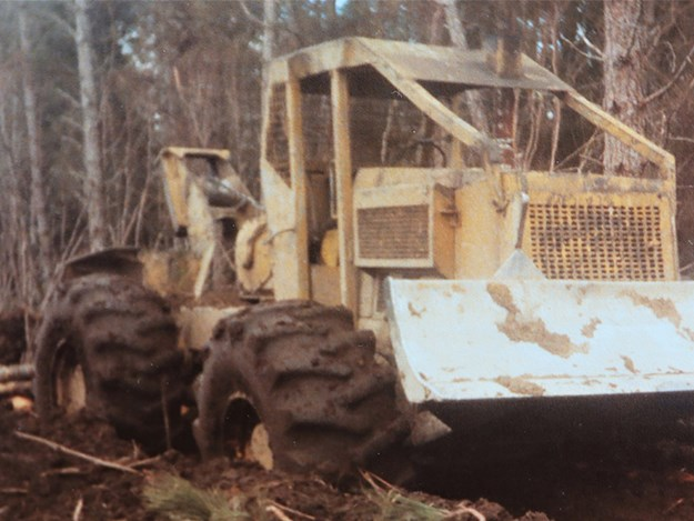 Pat's logging venture started with a C7 Tree Farmer