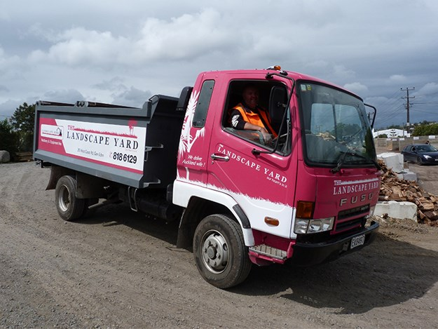 The refurbished Mitsi Fuso off to yet another job