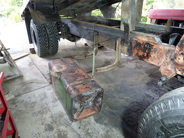 The old fuel tank will take some work