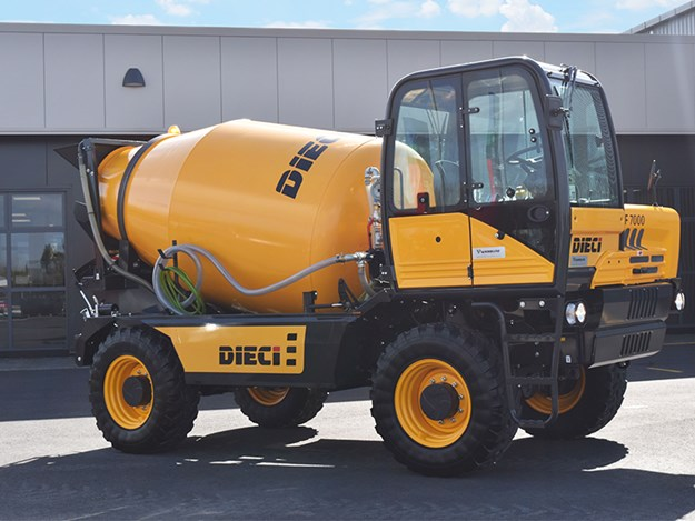 The concrete mixers have a much smaller footprint than standard trucks