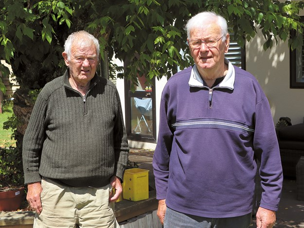 Bruce (left) and Ron (right) are two of a family of nine siblings