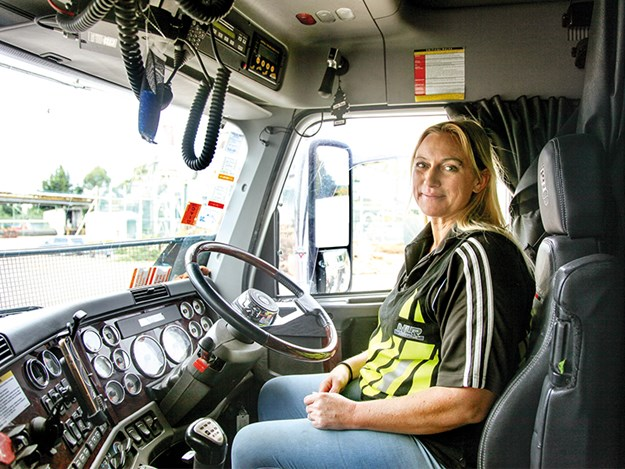 Cat Wilson reckons nothing beats being a logging truck drive