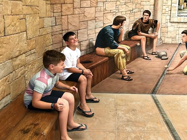 Copy of Jo_s boys at Puzzling World toilets, Wanaka.jpg