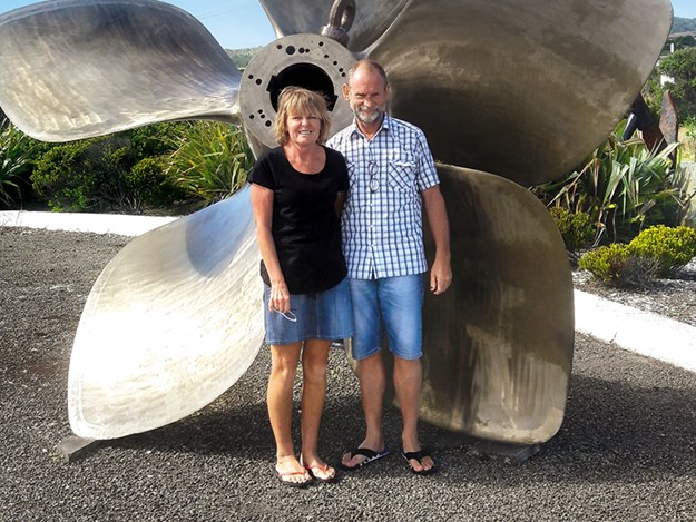 Mark and Donna at the Blu Maritime Museum